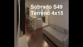 Sobrado S49 - 4x15 - 2 quartos (1 suíte), jardim de inverno, 1 vaga , cozinha americana, sala, ...