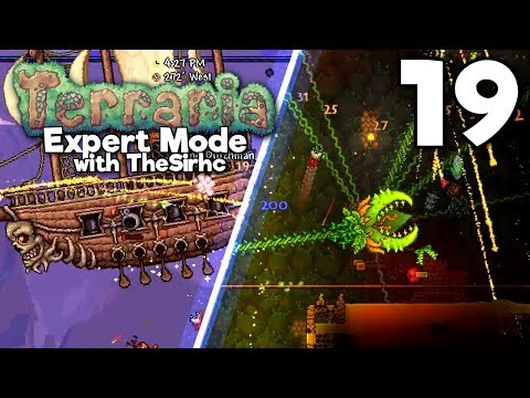 Never Summon Plantera Under Your Base! ▫ TERRARIA Expert Mode w/theSirhc (Ep.19)