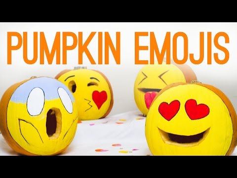 DIY Emoji Pumpkins for Halloween Decor!