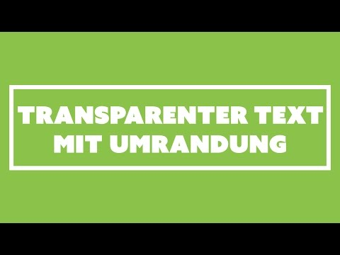 Transparenter Text mit Rahmen | Progressively Enhanced