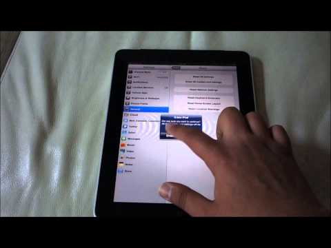 How to Reset iPad 1 to Factory Settings | Original Settings
