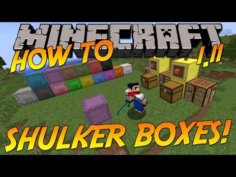 How To: Craft & Colour Shulker Boxes! | Minecraft 1.11