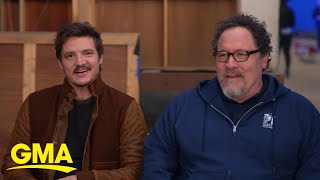 Pedro Pascal and director Jon Favreau on 'The Mandalorian' l GMA