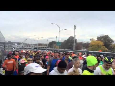 Starting line of 2015 TCS NYC Marathon