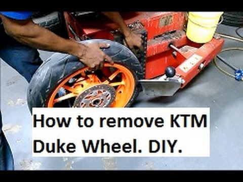 How to remove KTM Duke Wheel and Tyre Replacement. Do it YOURSELF Guide.