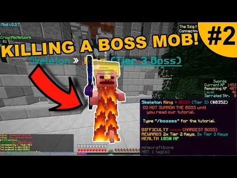 KILLING A MOB BOSS + STARTING BASE! ~ CROWNME #2 (Minecraft Factions)