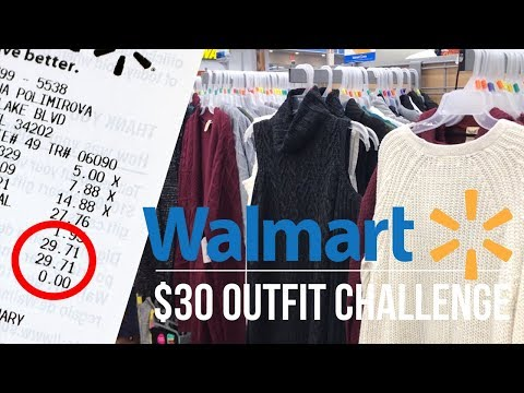 Shopping Vlog and Haul | $30 Outfit Challenge Walmart