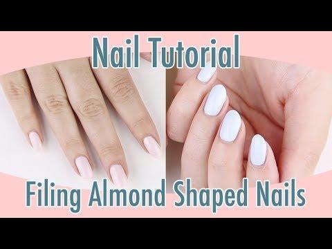 Nail Tutorial: Filing Almond Shaped Nails
