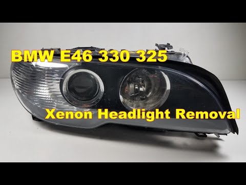 04 BMW e46 330ci Bi-Xenon Adaptive Headlight Removal 325ci M3 bimmer