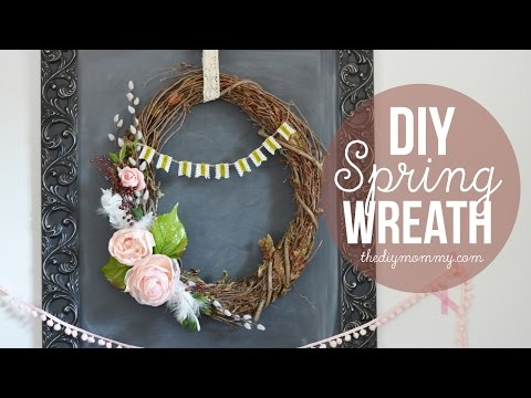 How to Make A Spring Grapevine Wreath