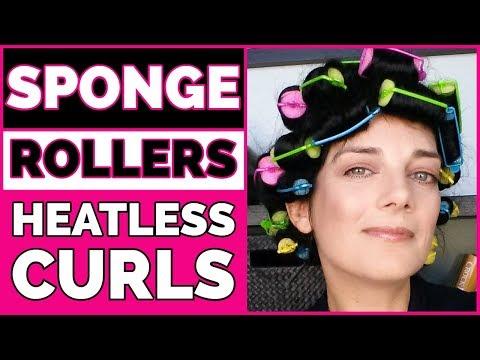 SPONGE ROLLERS TUTORIAL | HEATLESS CURLS FOR LONG HAIR