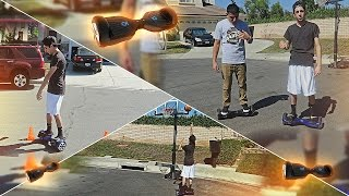 HOVERBOARD OBSTACLE RACE!!