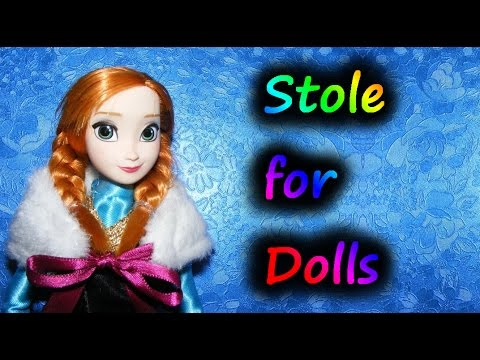 How to make a Stole for Dolls Tutorial DIY