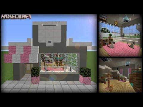 Minecraft - Cute Cat Cafe Tutorial!