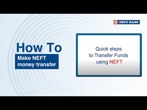 Complete Steps on How to do NEFT Money Transfer via HDFC NetBanking