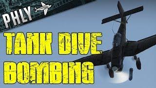 War Thunder Tanks - Tank Dive Bombing Ju-87- Ground Forces Gameplay