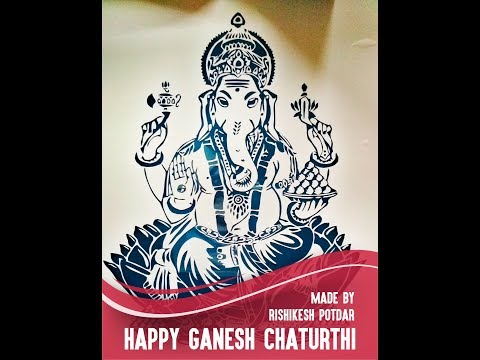 Incredible Ganesha Cutout in Timelapse
