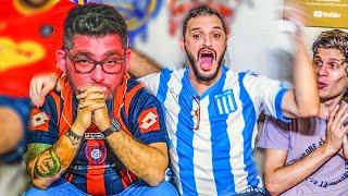 CON APUESTA de CAMISETA! San Lorenzo vs Racing   REACCIONES - Torneo Argentino 2020