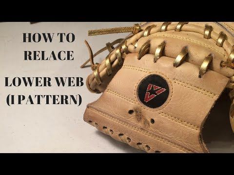 HOW TO RELACE - Catchers Glove Vertical Lines in Web