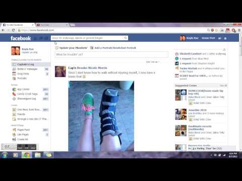 How to change Facebook back to original format