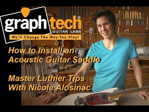 Graph Tech Training Series: How to Install an Acoustic Guitar Saddle