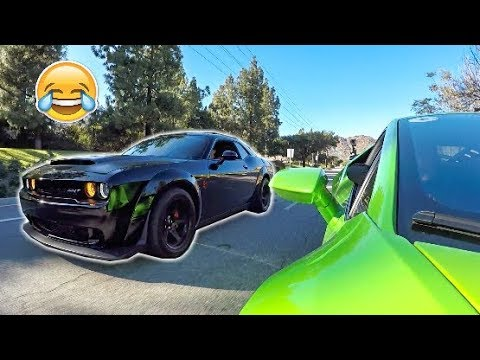 Dodge Demon Owner Thinks His Car Is Faster LOL!