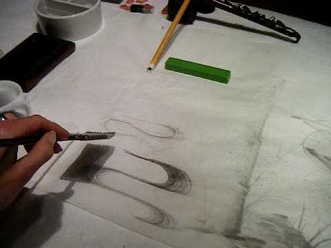 Painting Water, Clouds and Mist in Japanese Brush painting