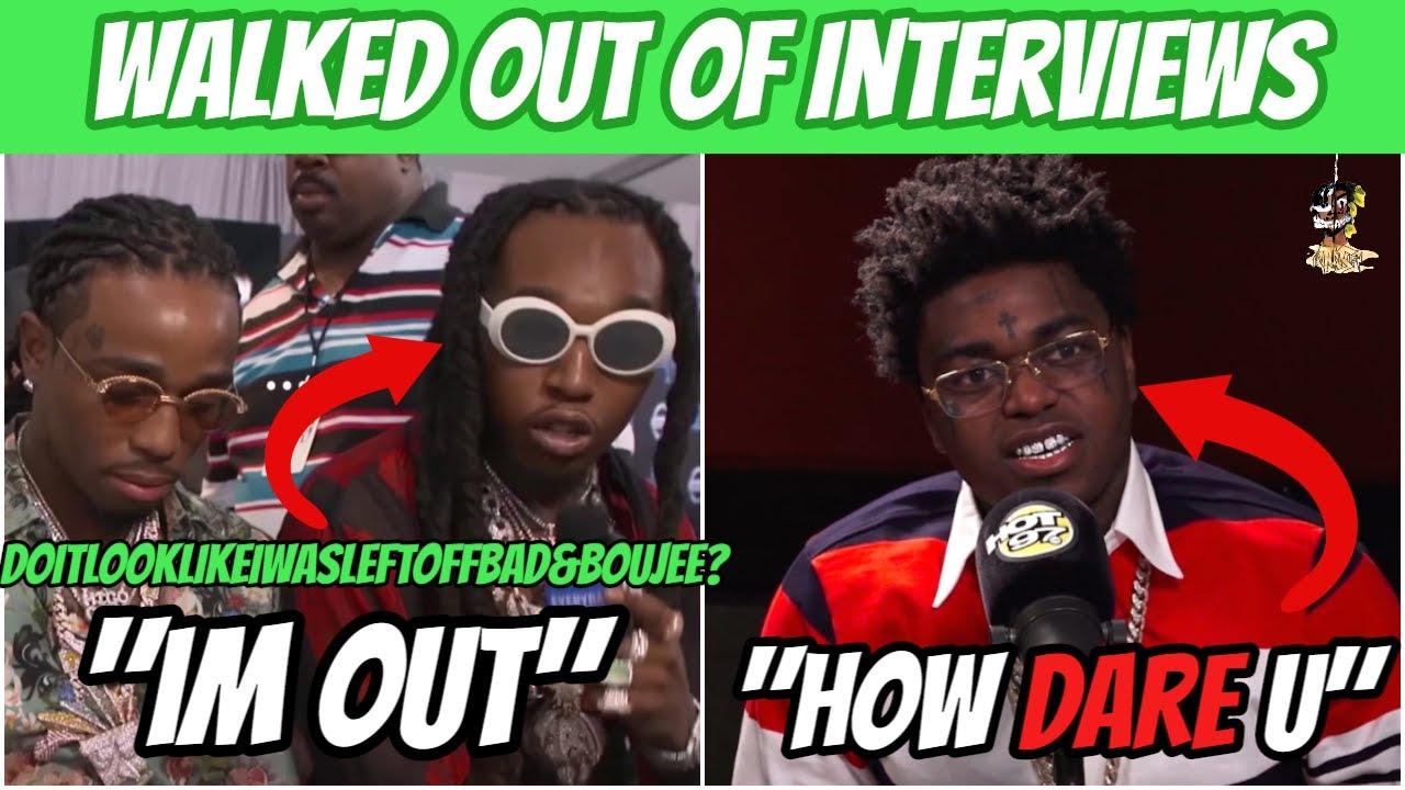 RAPPERS WALKING OUT OF INTERVIEWS! (Lil Uzi Vert, Takeoff, Kodak Black & MORE!)