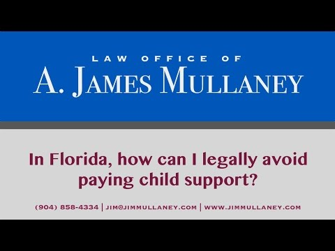 How can I Legally Avoid Paying Child Support in Florida?