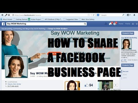 How to Share Your Facebook Business Page with your Friends