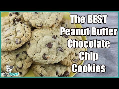THE BEST Peanut Butter Chocolate Chip Cookies RECIPE