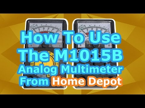 How To: The M1015B Analog Multimeter Tutorial