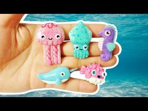 SEA CREATURES! Polymer Clay Tutorial