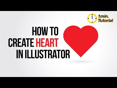 Illustrator Tutorial - How to create a heart shape in 1 minute
