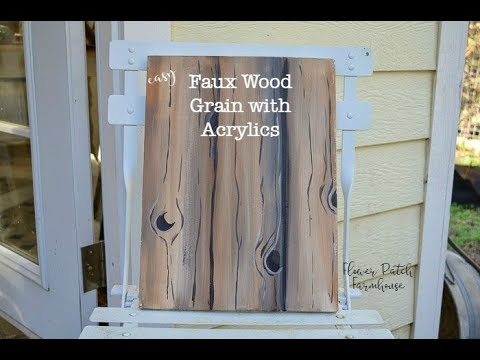 How to Paint Faux Wood Grain in Acrylics