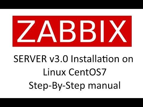 ZABBIX Server v3.0 installation on CentOS7 Step-By-Step manual