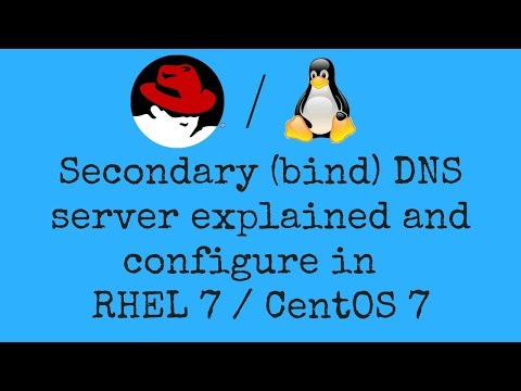 Secondary (bind) DNS server explained and configure in  RHEL 7 / CentOS 7