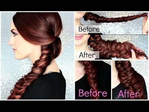 Big Sexy Fishtail Braid Tutorial + How to keep it from falling out!
