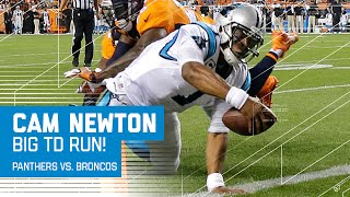 Cam Newton Shows Off New Td Dance Breaks Qb Rushing Td Record Panther