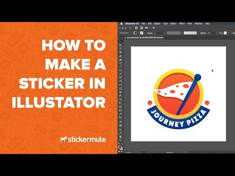 How to design stickers in Illustrator