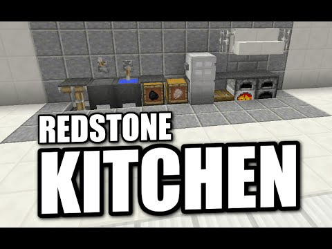 Minecraft PS4 - REDSTONE KITCHEN - Tutorial ( PS3 / XBOX / WII U / PE )