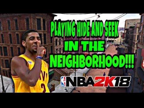 Hide and seek in NBA 2k 18