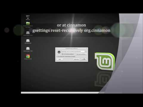 Reset Panel in Linux Mint