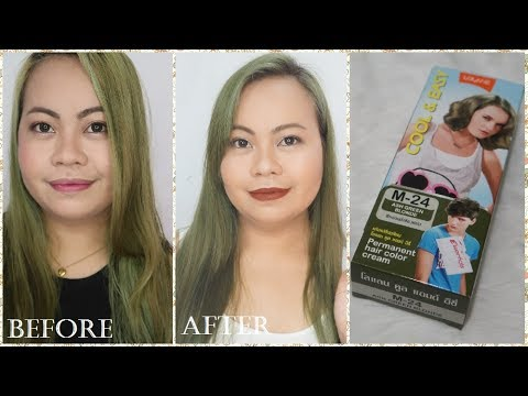 Lolane Permanent Hair Color Review |  Ash Green Blonde