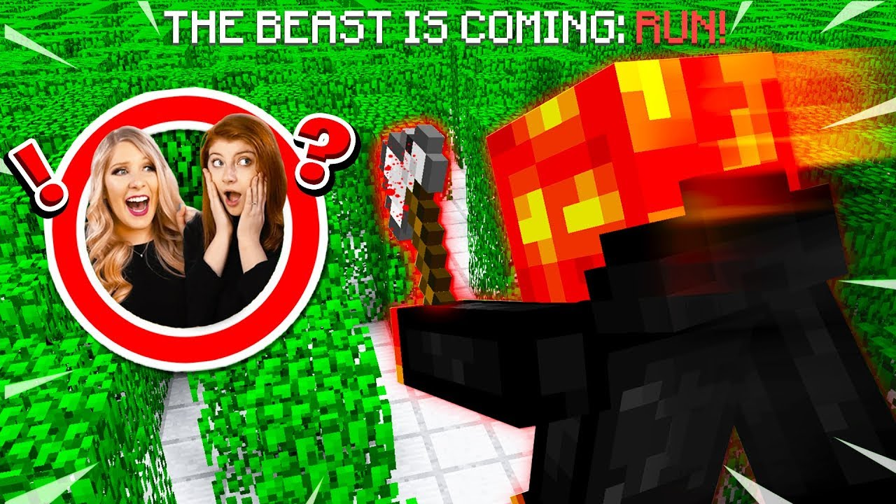 TROLLING MY WIFE AND SISTER AS THE BEAST! (MCPE Maze Escape)