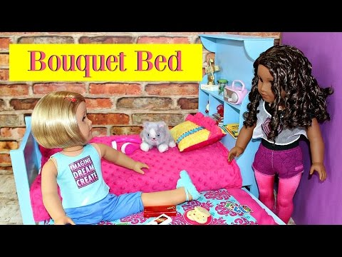 DIY American Girl Doll Bouquet Bed & Trundle
