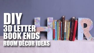 How to make 3D Letter Book Ends