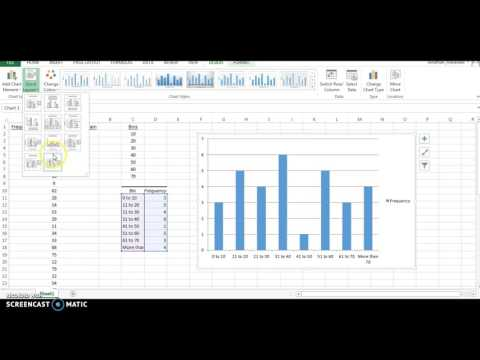 Creating a Histogram with Excel 2013