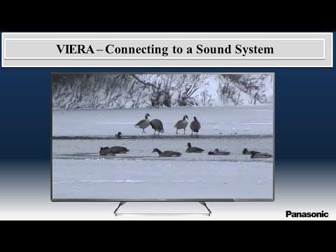 Panasonic VIERA How to connect to a Home Theatre System