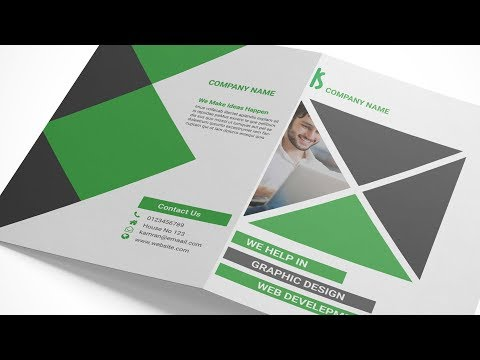 Indesign Tutorial: Creating a Bi Fold Brochure in Adobe InDesign and MockUp in Adobe Photoshop